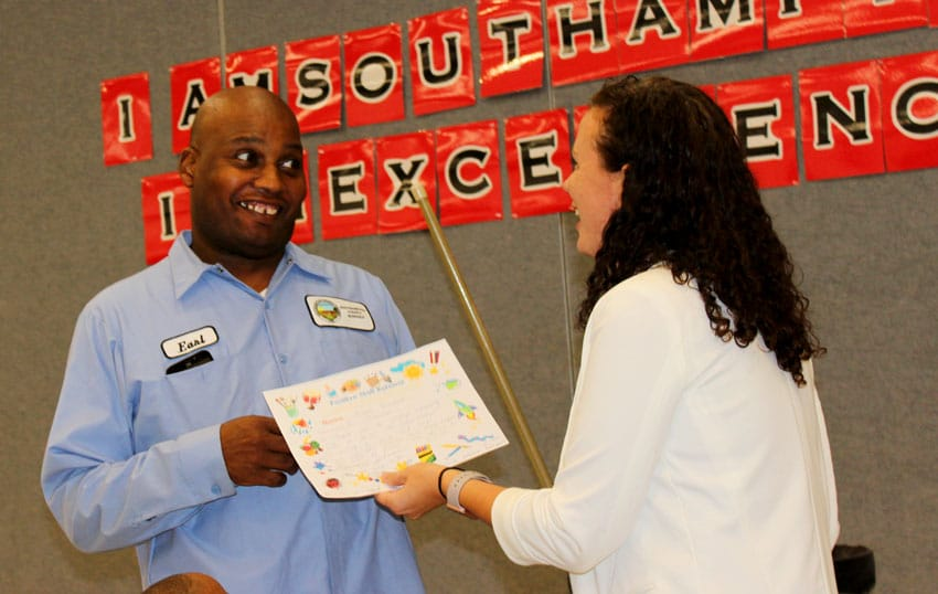 positive staff referral for school custodian