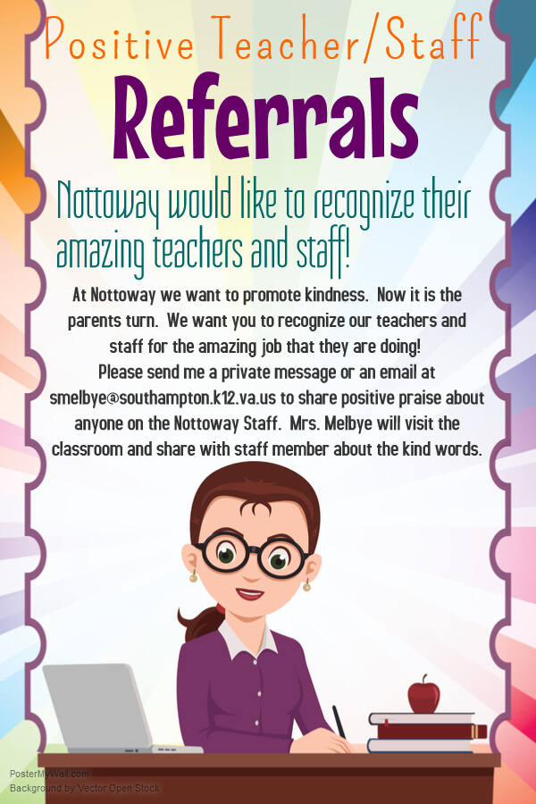 nominate teacher staff for a positive referral