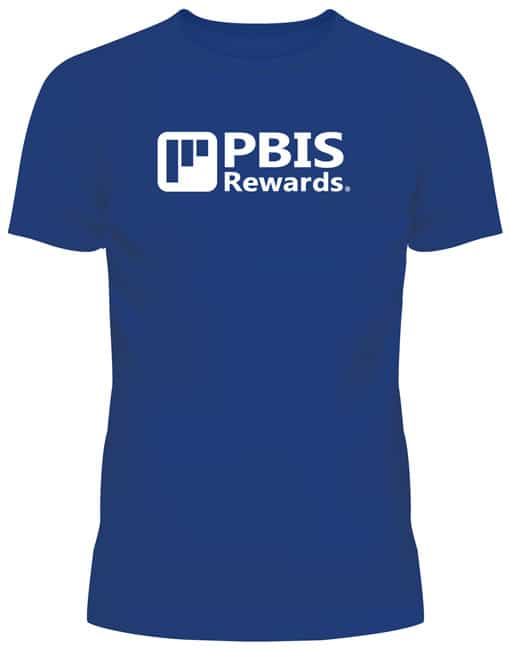 pbis rewards t-shirt blue front