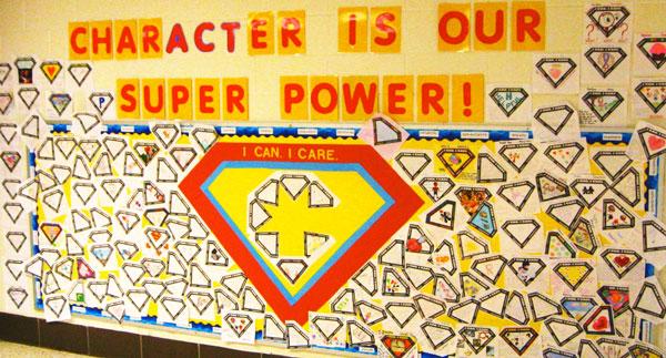 parent homework super power bulletin board